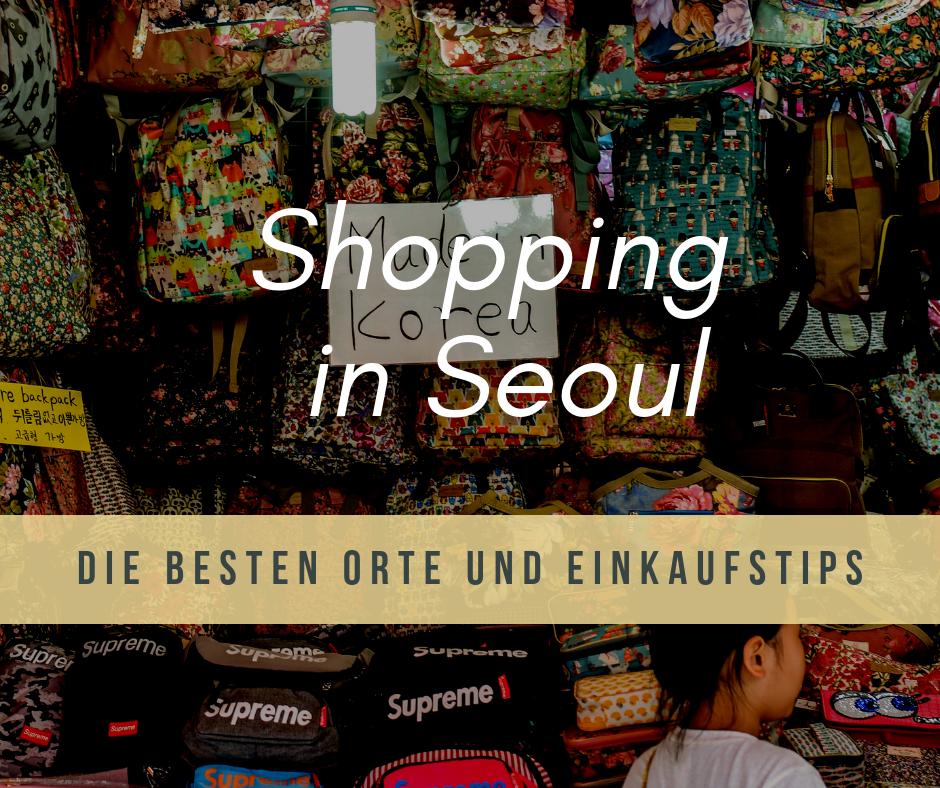 Einkaufen in Seoul